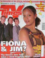<!--1997-07-19-->TV Times magazine - Angela Griffin cover (19-25 July 1997)
