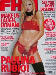 <!--2002-10-->FHM magazine - Paulina Rubio cover (October 2002)