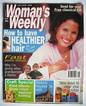 <!--1998-04-14-->Woman's Weekly magazine (14 April 1998)
