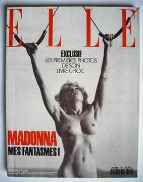 <!--1992-10-12-->French Elle magazine - 12 October 1992 - Madonna cover