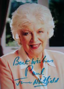 June Whitfield autograph