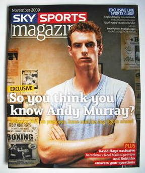 Sky Sports magazine - November 2009 - Andy Murray cover