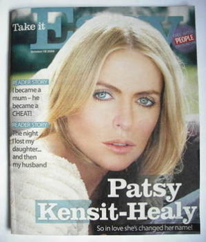 Take It Easy magazine - Patsy Kensit cover (18 October 2009)