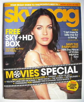 Sky TV magazine - November 2009 - Megan Fox cover