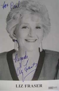 Liz Fraser autograph