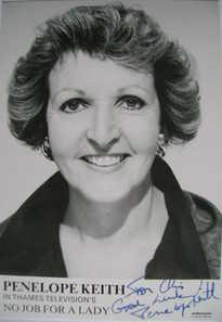 Penelope Keith autograph
