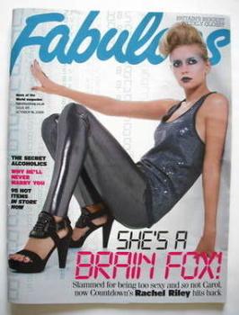 Fabulous magazine - Rachel Riley cover (18 October 2009)