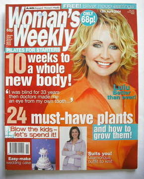 <!--2004-04-13-->Woman's Weekly magazine (13 April 2004 - Lulu cover)