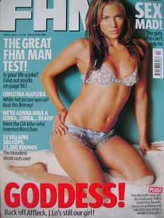 <!--2003-04-->FHM magazine - Jennifer Lopez cover (April 2003)