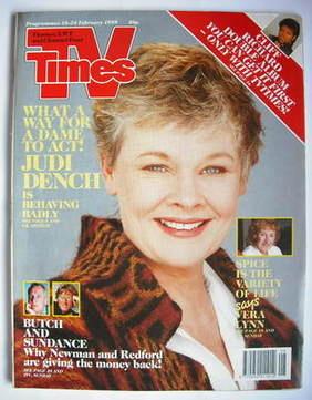 <!--1989-02-18-->TV Times magazine - Judi Dench cover (18-24 February 1989)
