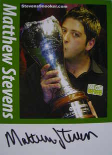Matthew Stevens autograph (Snooker Player)
