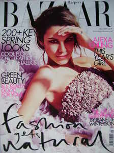 Harper's Bazaar magazine - May 2009 - Alexa Chung cover