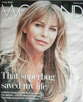 Weekend magazine - Leslie Ash cover (17 October 2009)