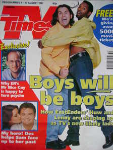 <!--1997-08-09-->TV Times magazine - Richard Elis and Des Coleman cover (9-