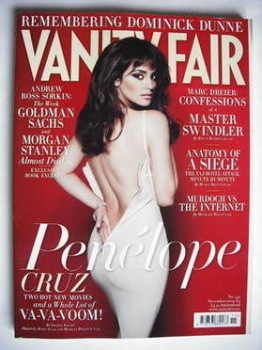 Vanity Fair magazine - Penelope Cruz cover (November 2009)
