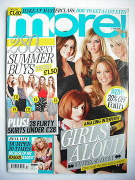 <!--2009-04-27-->More magazine - Girls Aloud cover (27 April 2009)