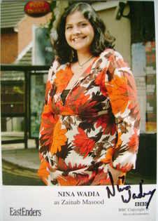 Nina Wadia autograph (EastEnders actor)