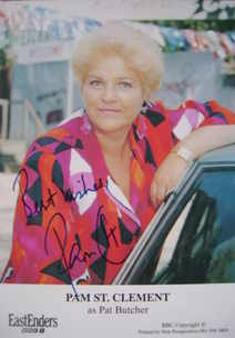 Pam St. Clement autograph (EastEnders actor)