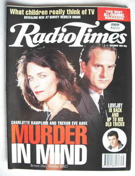<!--1994-10-01-->Radio Times magazine - Charlotte Rampling and Trevor Eve c