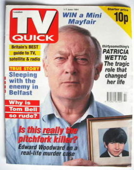 TV Quick magazine - Edward Woodward cover (1-7 June 1991)