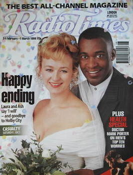 <!--1996-02-24-->Radio Times magazine - Patrick Robinson and Lizzy McInnern