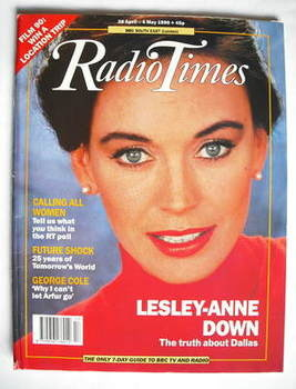 <!--1990-04-28-->Radio Times magazine - Lesley-Anne Down cover (28 April-4