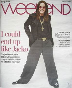 Weekend magazine - Ozzy Osbourne cover (24 October 2009)