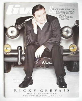 Live magazine - Ricky Gervais cover (19 October 2008)