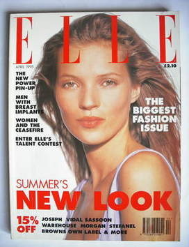 <!--1995-04-->British Elle magazine - April 1995 - Kate Moss cover