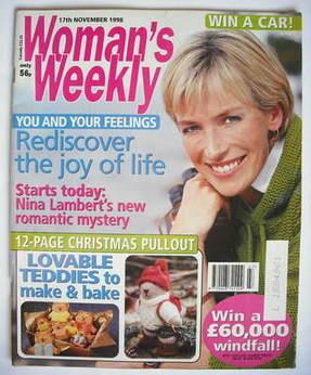 <!--1998-11-17-->Woman's Weekly magazine (17 November 1998)