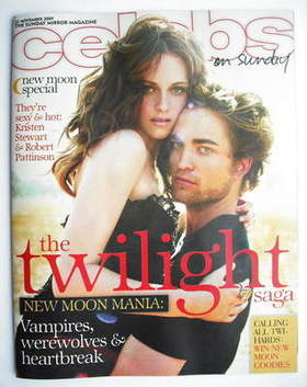<!--2009-11-22-->Celebs magazine - Robert Pattinson and Kristen Stewart cov