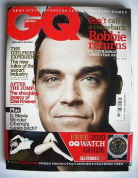 British GQ magazine - November 2009 - Robbie Williams cover