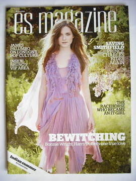 <!--2009-06-26-->Evening Standard magazine - Bonnie Wright cover (26 June 2