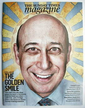 <!--2009-11-08-->The Sunday Times magazine - Lloyd Blankfein cover (8 Novem