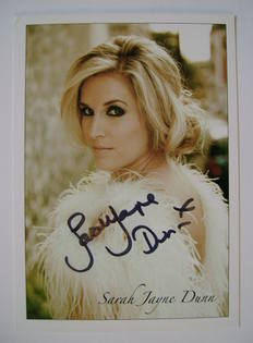 Sarah Jayne Dunn autographed photo