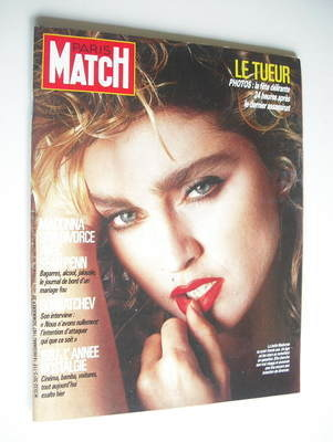 <!--1987-12-18-->Paris Match magazine - 18 December 1987 - Madonna cover