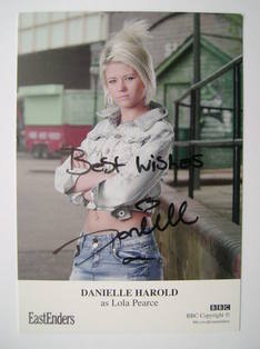 Danielle Harold autographed photo (EastEnders actor)