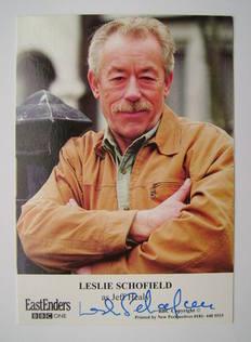 Leslie Schofield autograph (ex EastEnders actor)