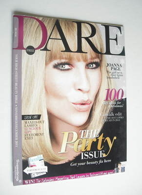 <!--2011-11-->Dare magazine - Joanna Page cover (November/December 2011)
