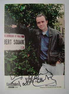 Todd Carty autograph (ex EastEnders actor)