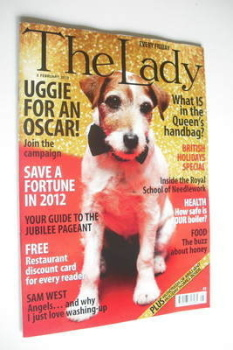 The Lady magazine (3 February 2012 - Uggie cover)
