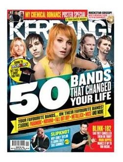 <!--2012-03-03-->Kerrang magazine - 50 Bands That Changed Your Life cover (