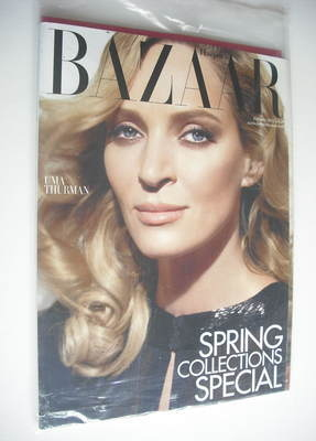 <!--2012-02-->Harper's Bazaar magazine - February 2012 - Uma Thurman cover
