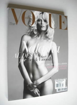 Vogue Espana magazine - November 2011 - Natasha Poly cover