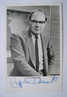 Cliff Michelmore autograph (hand-signed photograph)