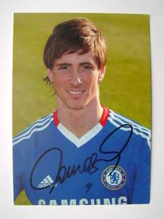 Fernando Torres autograph