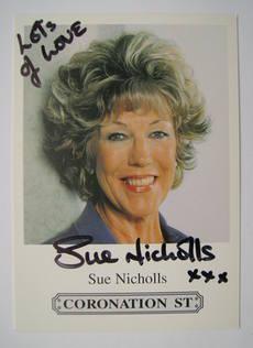 Sue Nicholls autograph
