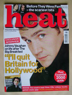 <!--2000-01-06-->Heat magazine - Johnny Vaughan cover (6-12 January 2000 -