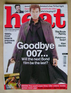 <!--1999-12-02-->Heat magazine - Pierce Brosnan cover (2-8 December 1999 -