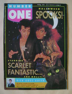 NUMBER ONE Magazine - Scarlet Fantastic cover (31 October 1987)